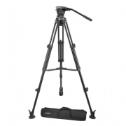 EIMAGE EK630 PROFESSIONAL CAMERA VIDEO TRIPOD CON FLUID HEAD 75MM BOWL 8.8 LBS. PAYLOAD